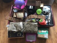 Large Hamster Cage- Bedding-Toys -Wheel-bottle -Hammock Food And Much More VGC