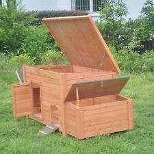 "DELUXE 71"" Rabbit Hutch Poultry Cage Bunny Chicken Coop Guinea Pig Ferret Hen"