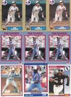 Tim Raines Mixed Brand And Years baseball Card Lot HOF Expos Montreal Expos