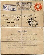 GB KG5 registrato Cancelleria 5d USATO 1922 Ilford OVALE... Tasso di solo 11 mesi