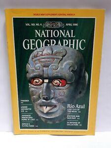 National Geographic magazine April 1986