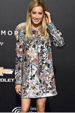 Alice + Olivia Rory Beaded Embellished Jacket Bird Long  Coat Size M $1095