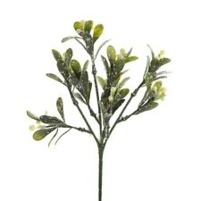 Large Artificial Christmas Frosted Mistletoe Sprig Spray Picks New Years Kissing