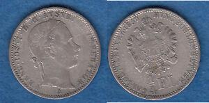 1/4 Gulden 1/4 Florin 1859 A R! Randfehler (Tb.10) stampsdealer