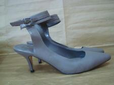 NEXT UK 6 GREY ANKLE STRAP POINTED TOE SHOES