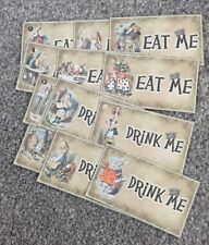 12 Eat Me/drink Me - Alice In Wonderland Gift Tags Party/ Wedding Decorations