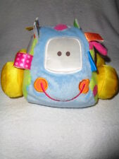 "Car Blue Plush Taggies Earlyears 8"" Stuffed Vibrating Baby Pull Rattle Toy 2008"