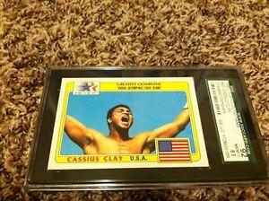 1983 topps history's greatest olympians #92 CASSUS CLAY MUHAMMAD ALI SGC 8.5 NM