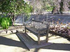 The old wooden park bench seat Botanic Gardens Albury