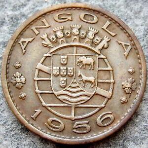 ANGOLA PORTUGUESE COLONIAL 1956 1 ESCUDO