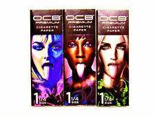OCB Premium Tongues Rolling Papers - 3 Packs - 25 each - RYO Tobacco - NEW DIY