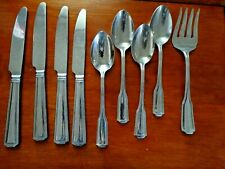 8 pc Parker House Stainless 21/0 Flatware By Wallace