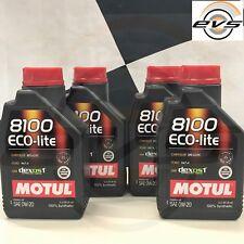 1 litro 1ltr. Motul 8100 Eco-lite aceite de motor 0w-20 5 Gf5 Gf-5