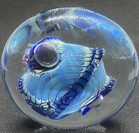 Vintage Signed Robert Eickholt Dichroic Art Glass Paperweight 1993 DCO