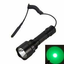 5000lm Q5 Green LED Linterna Lamp Linterna Flashlight+Remote Switch+Holster