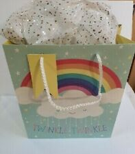 Baby Gift Bag - Baby Shower / New Arrival - Rainbow Twinkle Medium  Size