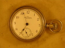 WALTHAM SIDE WINDER 18 SIZE POCKET WATCH IN SALESMAN CASE OF