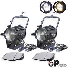 2 pcs 200W  Bi-Color Fresnel LED Spot Light Studio  For Movie Camera video light