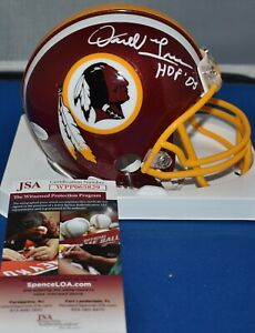 DARRELL GREEN AUTOGRAPHED MINI HELMET WASHINGTON REDSKINS HOF 2008 JSA