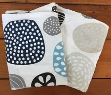 Pair Of 2 IKEA Ringkrage Blue Gray Taupe Dots 100% Cotton KING Pillowcases