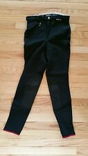 EUC EuroStar Knee Patch Breeches Size 26L Black Gorgeous