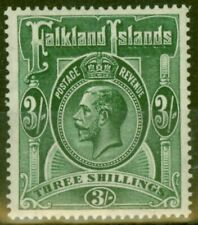 Falkland Is 1923 3s Slate Green SG80 V.F Very Lightly Mtd Mint
