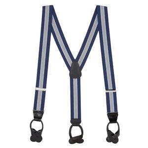 1.5-Inch Wide BUTTON Suspenders: Stripes, Dots, Checks