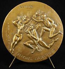 Médaille Michel Larionov peintre russe Serge Diaghilev sc Lydia Luzanowsky Medal