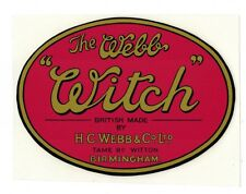 Webb Witch Vintage Mower Repro Catcher Decal