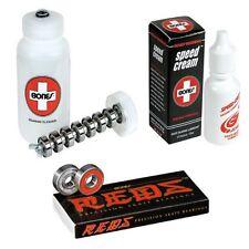 Bones Skate Cleaner Unit Speed Cream Precision Bearing #608 8pk Combo Skateboard