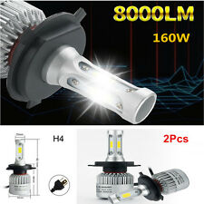 2PC Car LED H4 HB2 Hi/Lo Dual Bulbs Fog Driving Headlight Kit 160W 16000LM 6000K