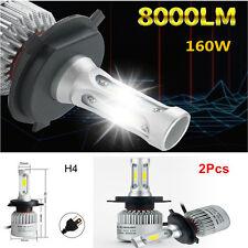 2PC Car LED H4 HB2 Hi/Lo Dual Bulbs Fog Driving Headlight Kit 160W 16000LM 6000K