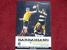 Barbarians V Australia Rugby Programme 26 Nov 2011