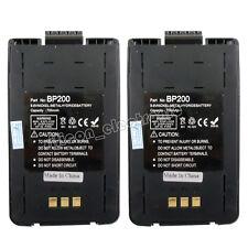 2pcs BP-200H BP-200XL Battery For ICOM IC-A23 IC-A5 IC-T8 IC-T81 Two Way Radio