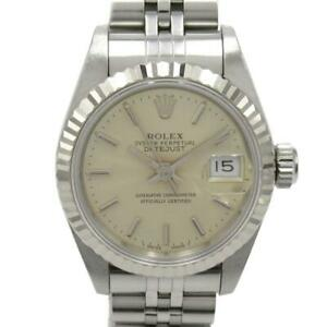 ROLEX Datejust watch Ladies 69174 Automatic gold 18KWG Stainless Steel (SS) Used