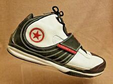 Vintage Converse Men Basketball Sneaker Black White Leather Sport Shoes Size 18