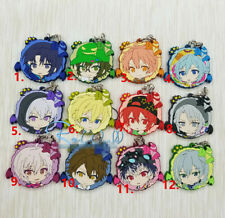 Anime idolish7 Rubber Keychain Key Ring Rare straps cosplay