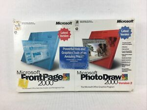 MICROSOFT PHOTODRAW 2000 VERSION 2 & MICROSOFT FRONTPAGES 2000 BUNDLE