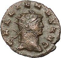 Gallienus Valerian I son Ancient Roman Coin Possibly Unpublished PIetas i40707