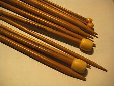 """15 sizes Carbonized Patina  9"""" Single Pointed Bamboo Knitting Needles  US 0-15"""