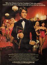 1974 Vintage ad for GINGISS FORMALWEAR /BoBo Bojovie (041913)