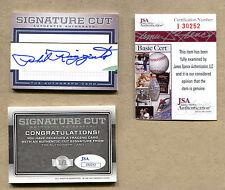 Phil Rizzuto CUT Signature Card 1/1 JSA AUTO HOF New York Yankees