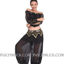 C88 Belly Dancing Costume with 2 Pieces Top Top & Pants Belly Dancing