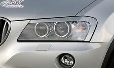 RDX Scheinwerferblenden BMW X3 F25 (2010-2014) Böser Blick Blenden Spoiler