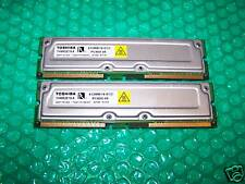 1GB TOSHIBA PC800-45 RIMM RAMBUS RDRAM Tested (2x 512MB) matching pair