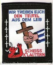 "Anti Lautern Aufnäher ""Wir treiben eu.."" Kutte Weste Fan Patch Block + neu +"
