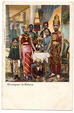 CPA INDONESIE - Bruidspaar te BATAVIA - Dos simple - Ed. G. Kolff & Co