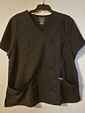 Cherokee Workwear plus Sz 3X Black V-Neck Scrub Top Nwot