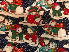 "Hi-Fashion Holiday Polar Bears for Apparel ,Quilting,Crafts, 54"" x 43"" Corduroy"