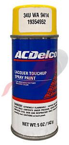 Genuine GM ACDelco Rally Yellow Paint 5oz Spray Code 34U WA9414 GCO